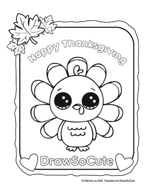 thanksgiving cute coloring pages - photo#3