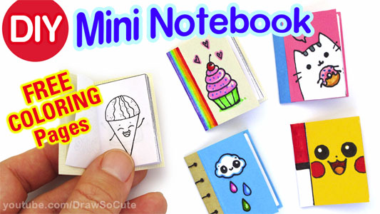 How To Make A Mini Notebook Draw So Cute