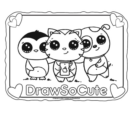 Coloring pages draw so cute for Draw so cute coloring pages