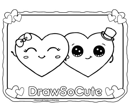 Happy valentines day draw so cute for Draw so cute coloring pages