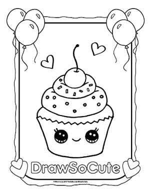 coloring pages draw so cute - Drawing Pictures For Colouring