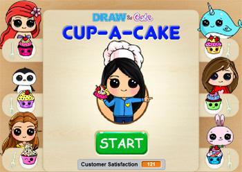 Draw So Cute Com Cup A Cake