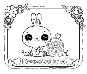 Easter coloring pages draw so cute for Www drawsocute com coloring pages