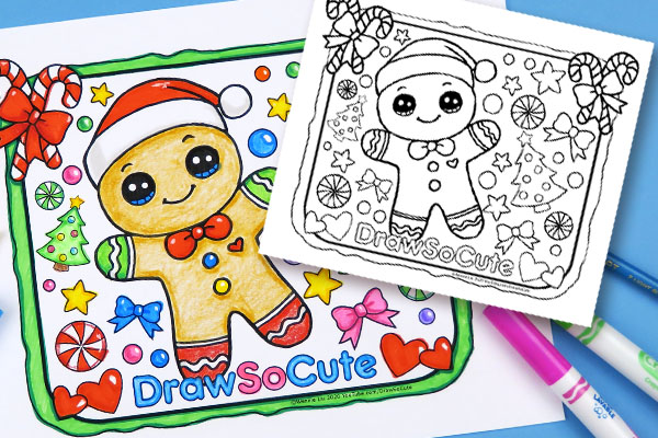Christmas Gingerbread Man Coloring Page – Draw So Cute